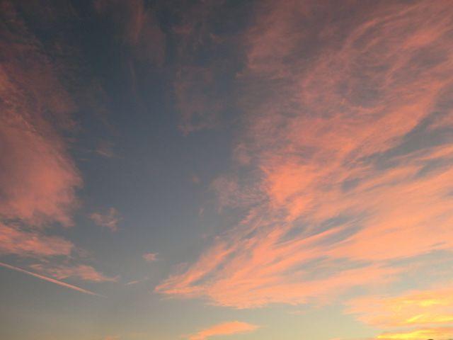 台風過ぎ去り、美しい夕焼け