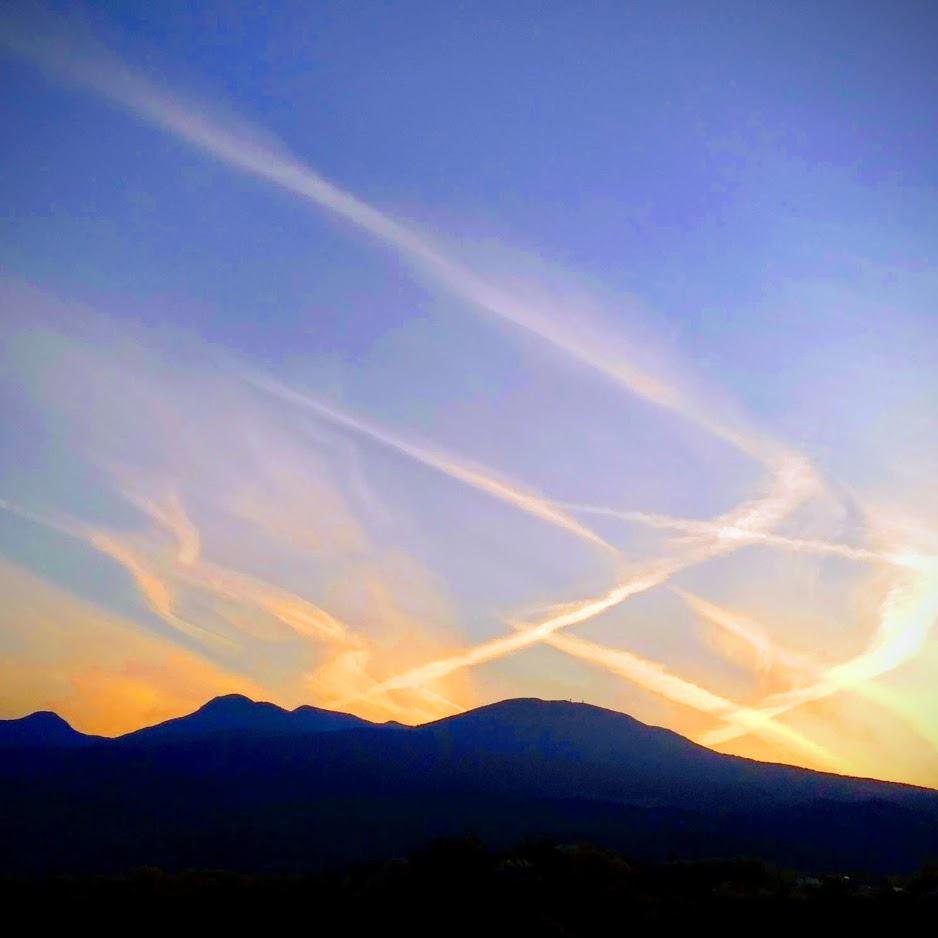 天城山の上空が芸術的!?
