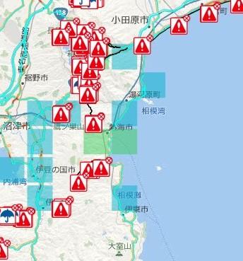 台風後本日より発送開始。通れた道マップも